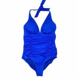 Beach by Melissa Odabash Blue Halter Swim Suit